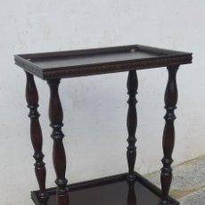 Antigüedades: ANTIGÜA MESA AUXILIAR DE MADERA . Lote 186408653
