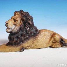 Antigüedades: LEÓN TUMBADO LINEOL 1930 ZOO ANIMALES SALVAJES. Lote 53827335