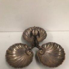 Antigüedades: ANTIGUA BANDEJA TRES EN UNO. Lote 186412746