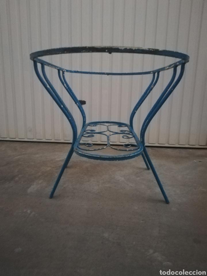 Antigüedades: Espectacular mesa antigua de hierro forjado para jardin o terraza vintage años 60 - Foto 2 - 186404610
