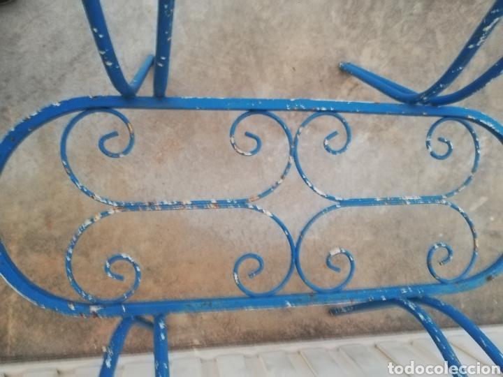 Antigüedades: Espectacular mesa antigua de hierro forjado para jardin o terraza vintage años 60 - Foto 4 - 186404610