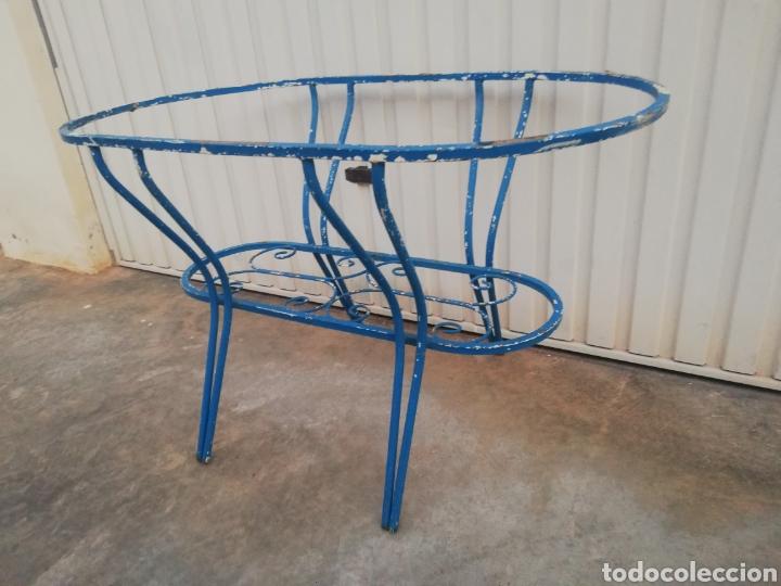Antigüedades: Espectacular mesa antigua de hierro forjado para jardin o terraza vintage años 60 - Foto 6 - 186404610