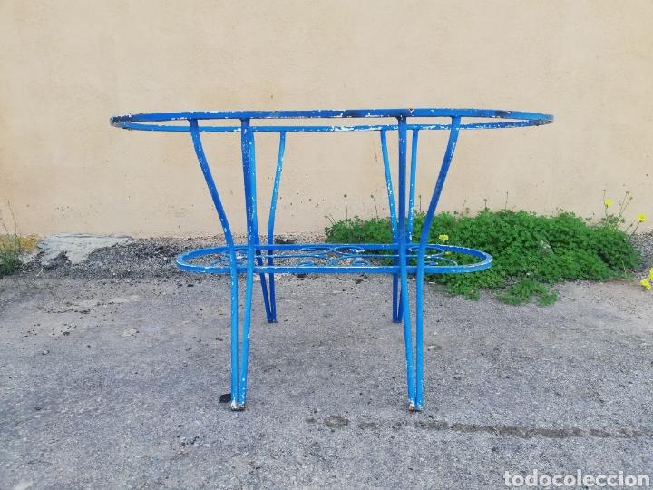 Antigüedades: Espectacular mesa antigua de hierro forjado para jardin o terraza vintage años 60 - Foto 3 - 186404610