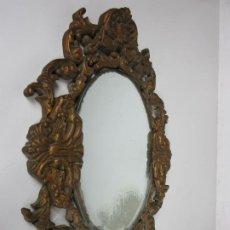 Antiquités: CORNUCOPIA - ESTUCO DORADO - ESPEJO ANTIGUO - TALLERES DE OLOT. Lote 186420130