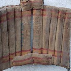 Antigüedades: MAGNIFICA ANTIGUA SILLA MONTAR BURROS ARTE POPULAR PASTORIL HECHO CON SACOS DE CORREOS. Lote 186420681