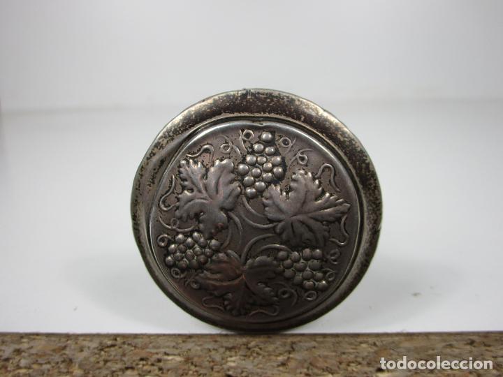 Antigüedades: Curioso Bastón - Empuñadura en Plata - Decoración con Uvas - Principios S. XX - Foto 9 - 186428941