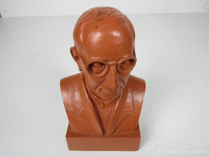 Antigüedades: Escultura Terracota - Busto - Firma M. Garcia - Foto 3 - 186430073