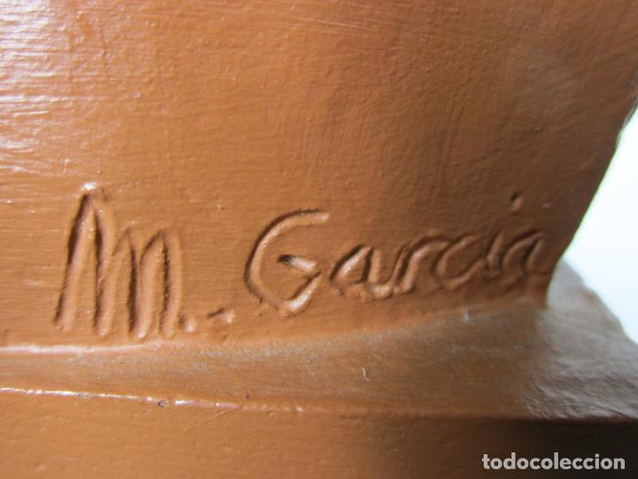 Antigüedades: Escultura Terracota - Busto - Firma M. Garcia - Foto 7 - 186430073