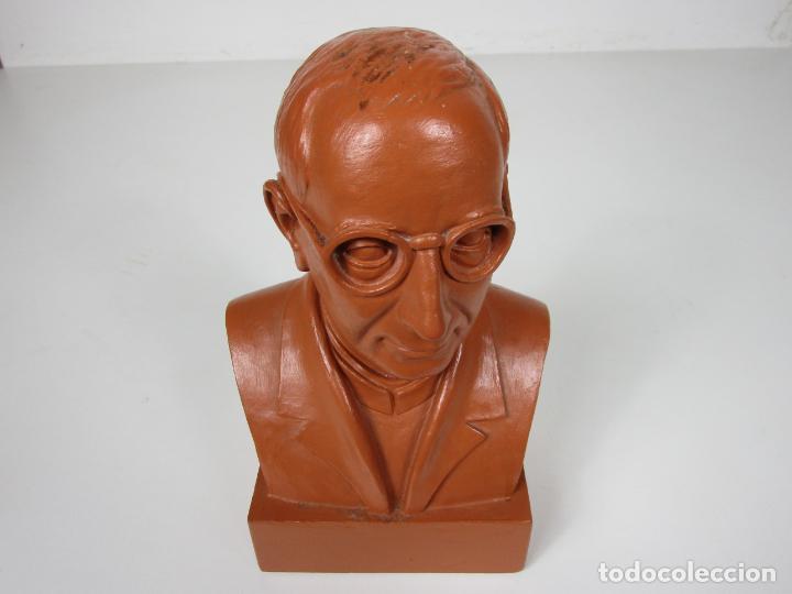 Antigüedades: Escultura Terracota - Busto - Firma M. Garcia - Foto 12 - 186430073