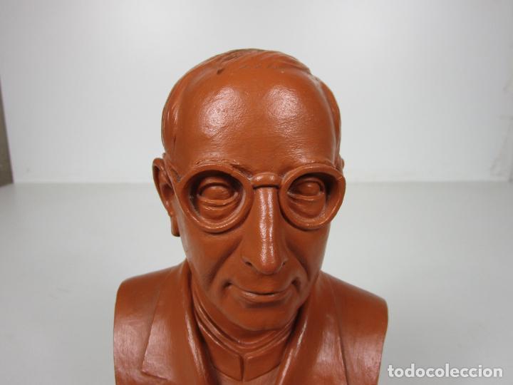Antigüedades: Escultura Terracota - Busto - Firma M. Garcia - Foto 14 - 186430073