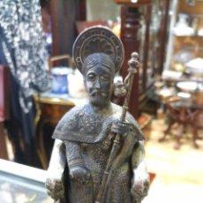 Antigüedades: SANTIAGO APOSTOL ENTRONIZADO. PLATA. JOYERIA MALDE. Lote 186444581