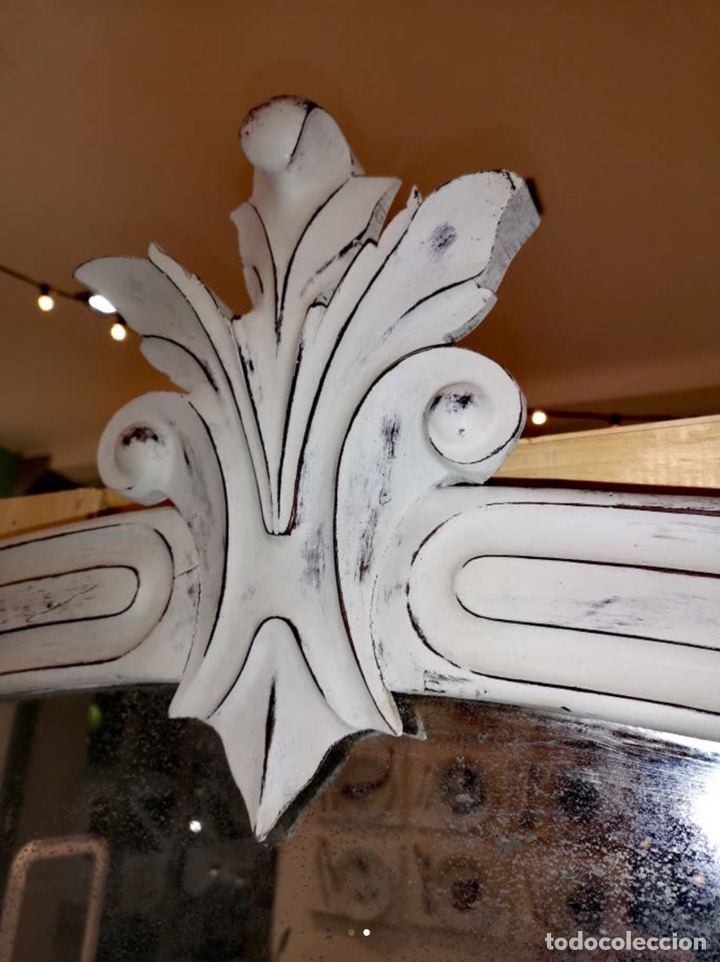 Antigüedades: Espejo antiguo de caoba - Foto 2 - 186452313