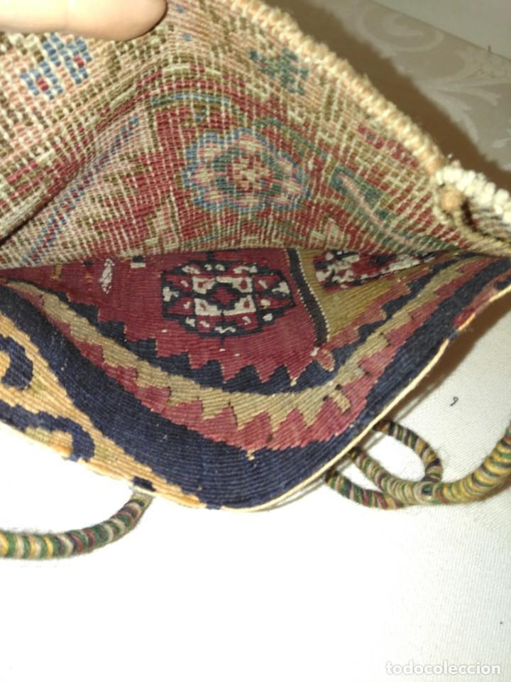 Antigüedades: ANTIGUO BOLSO BORDADO PARA INDUMENTARIA TRADICIONAL - Foto 10 - 186453121