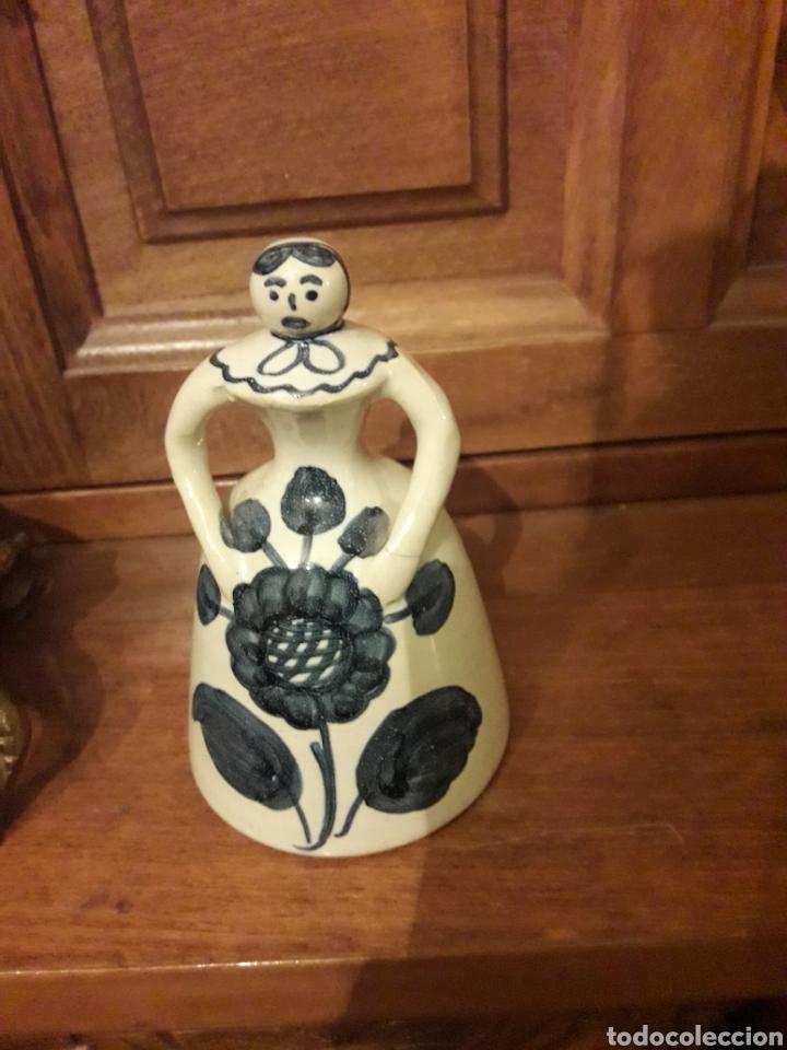 Antigüedades: Antigua campanilla de cerámica, Alfar Santa Catalina - Foto 3 - 186454786