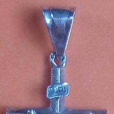 Antigüedades: CRUZ ANTIGÜA DE PLATA CON CONTRASTES. DIM.- 3.5X1.7 CMS.. Lote 186455436