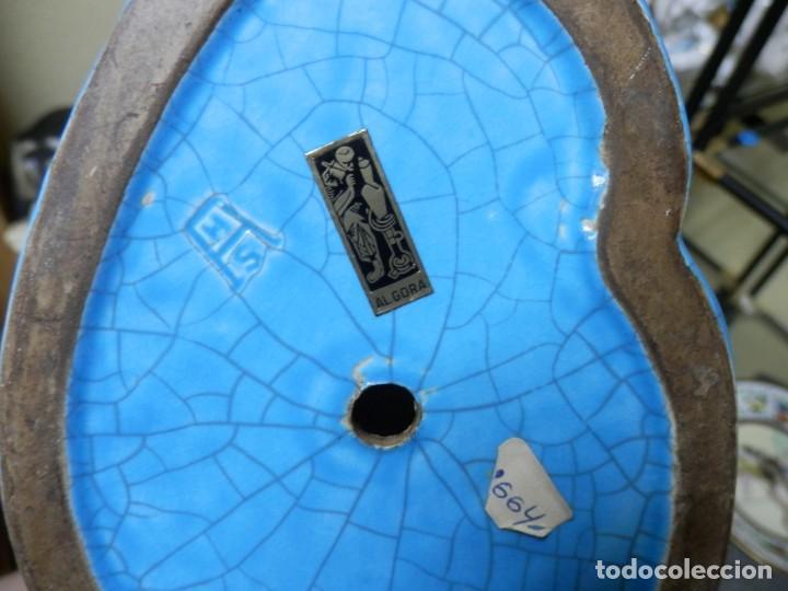 Antigüedades: GALLOS CERAMICA ESMALTADA AZUL TURQUESA, ALGORA, 44 CM - Foto 31 - 186458762