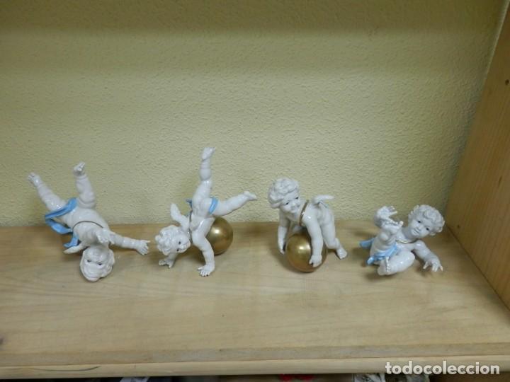 Antigüedades: ALGORA, 4 ANGELES, ANGELITOS, QUERUBINES, PORCELANA, ENTRE 15 Y 17 CM APROX. - Foto 18 - 186459105