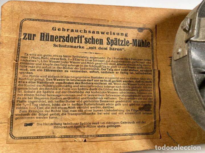 Antigüedades: ANTIGUO MUY RARO RALLADOR MANUAL FABRICADO EN ALEMANIA PERFECTO SIGLO XIX madera hierro cromado - Foto 3 - 186462100