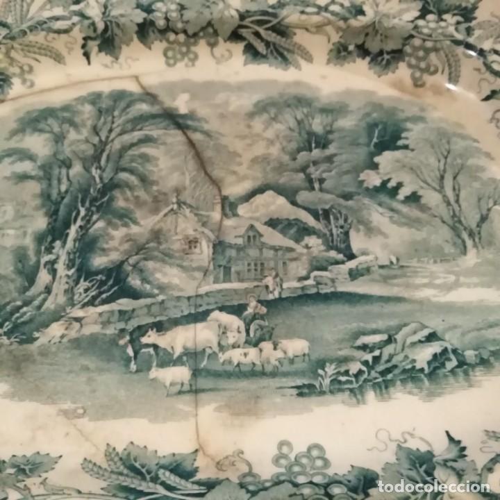Antigüedades: Antigua fuente Stafford de 1850-60 - Foto 2 - 183630256