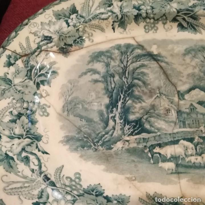 Antigüedades: Antigua fuente Stafford de 1850-60 - Foto 4 - 183630256