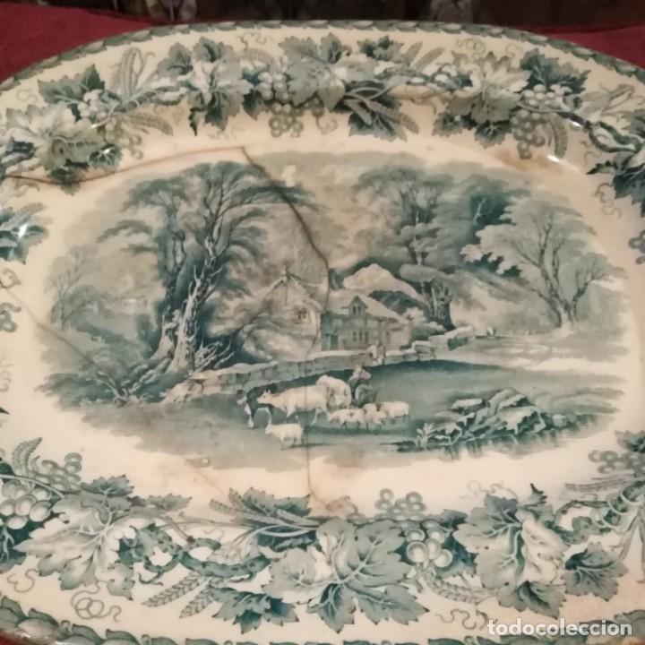 Antigüedades: Antigua fuente Stafford de 1850-60 - Foto 8 - 183630256