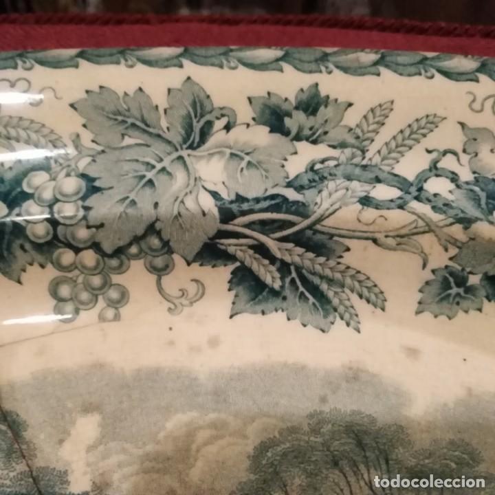 Antigüedades: Antigua fuente Stafford de 1850-60 - Foto 10 - 183630256