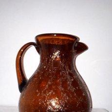 Antigüedades: ANTIGUA JARRA GRANDE DECORATIVA CRISTAL SOPLADO VIDRIOS GORDIOLA. Lote 186463897