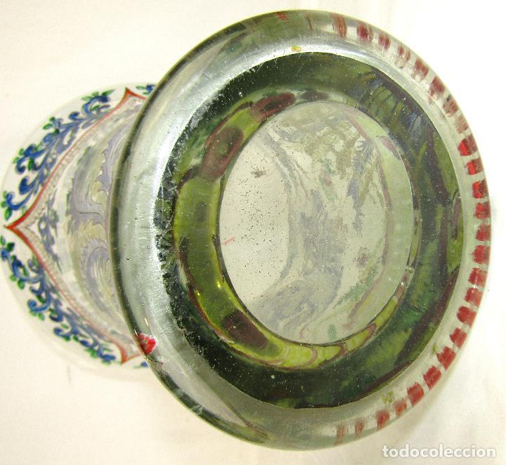 Antigüedades: JARRON VIDRIO PINTADO FIRMADO CIRERA - Foto 7 - 186528288