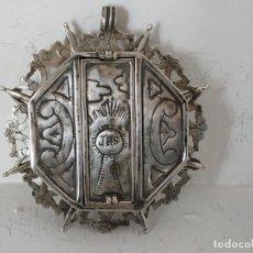 Antigüedades: RELICARIO DE PLATA, GRANDE. Lote 184373402
