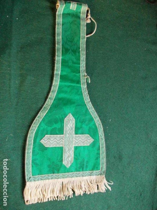 MANIPULO SACERDOTAL SACERDOTE ANTIGUO LITURGIAS (Antigüedades - Religiosas - Artículos Religiosos para Liturgias Antiguas)