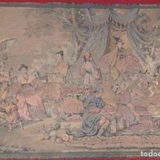 Antigüedades: TAPIZ ISABELINO CON MOTIVOS ORIENTALES. Lote 34282171