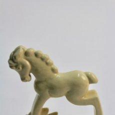 Antigüedades: FIGURA DE PORCELANA ESMALTADA ART DECO. . Lote 187090747