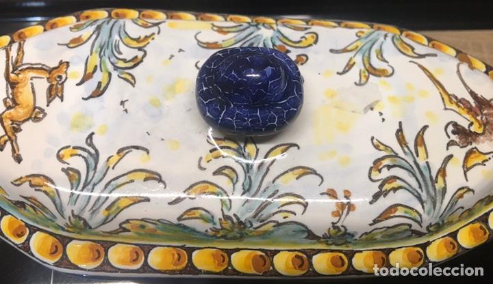 Antigüedades: Caja bombonera Talavera - Foto 3 - 187094968