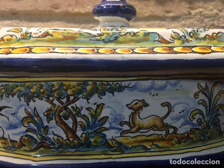 Antigüedades: Caja bombonera Talavera - Foto 5 - 187094968