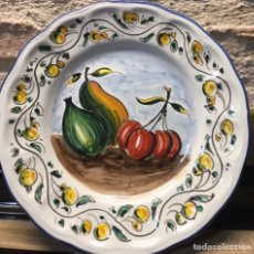 Antigüedades: BODEGON PLATO FRUTAS. Lote 187096920