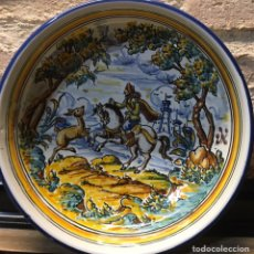 Antigüedades: CUENCO DE TALAVERA PINTADO A MANO. Lote 187098343