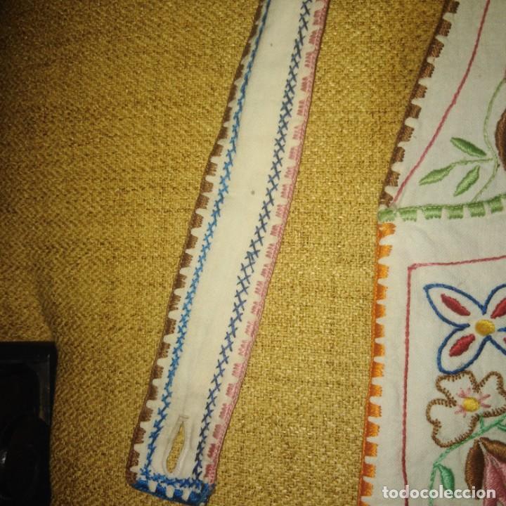 Antigüedades: Antiguo Delantal o mandil bordado a mano de lagartera del siglo xix - Foto 6 - 187110808