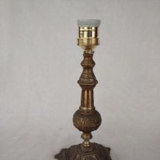 Antigüedades: PIE DE LÁMPARA DE SOBREMESA. Lote 187114623