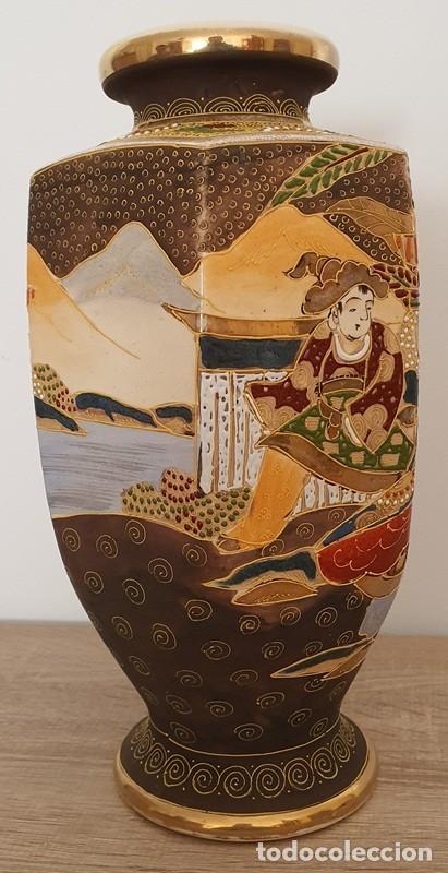 Antigüedades: JARRÓN EN CERÁMICA SATSUMA - Foto 5 - 187121690
