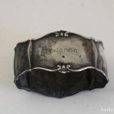 Antigüedades: SERVILLETERO EN PLATA MACIZA DE LEY 925. Lote 187133771