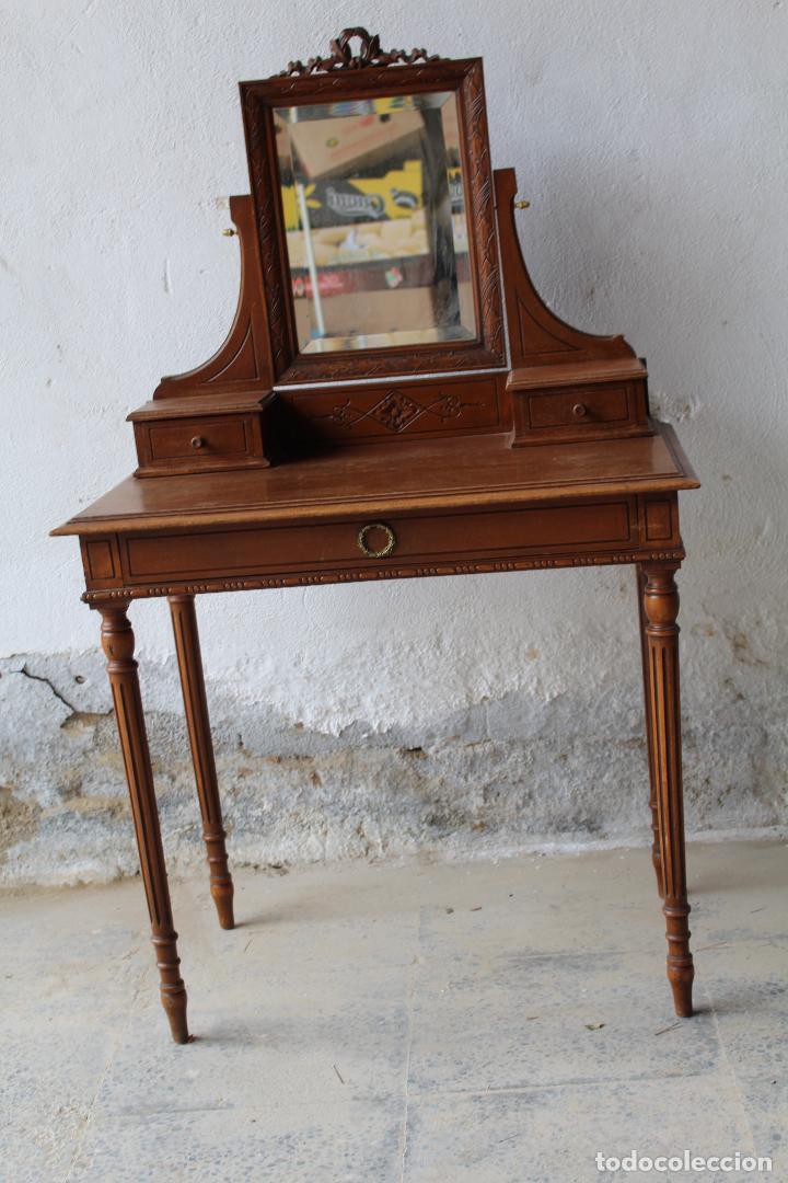 MUEBLE TOCADOR EN MADERA CON ESPEJO (Antigüedades - Muebles Antiguos - Auxiliares Antiguos)