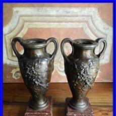 Antigüedades: COPAS ANTIGUAS DE CALAMINA FIRMADAS POR MOUREAU S. XIX. Lote 187149142