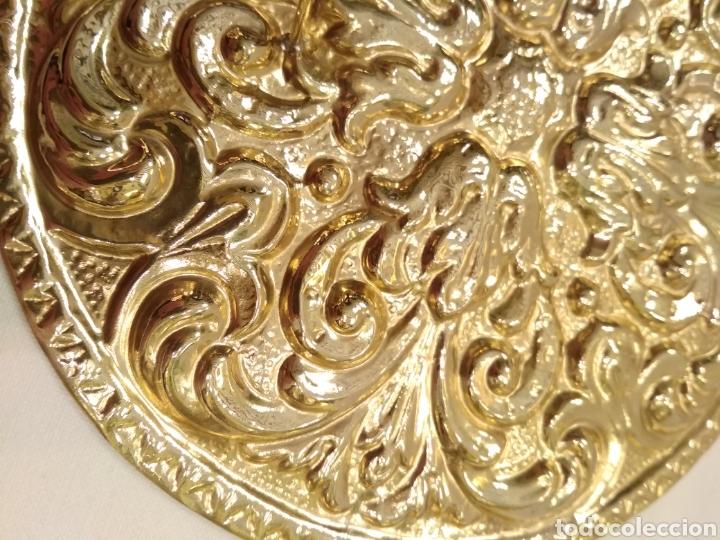 Antigüedades: Galleta dorada 12 cm. de diámetro (nuevo) - Foto 4 - 187152157