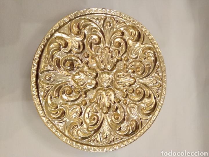 Antigüedades: Galleta dorada 12 cm. de diámetro (nuevo) - Foto 5 - 187152157