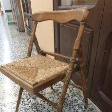 Antigüedades: SILLA PLEGABLE DE PPIOS DEL S. XX. Lote 187152601