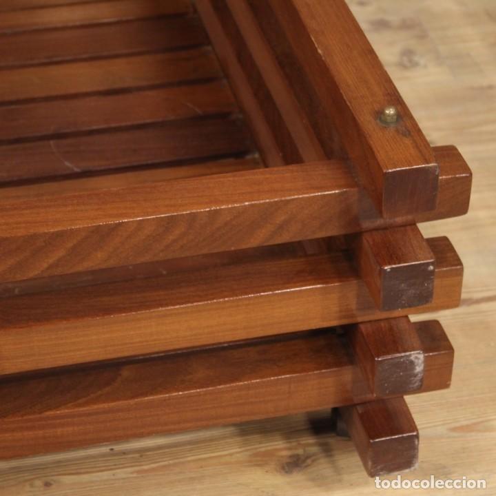 Antigüedades: Jardinera de diseño italiano en madera de caoba - Foto 3 - 187155427