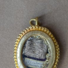 Antigüedades: COLGANTE RELIQUIA EXSUDARIO DE SAN FLORENTIS. Lote 187184693