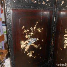 Antigüedades: BIOMBO ANTIGUO POSIBLEMENTE HISPANO FILIPINO. Lote 187185196