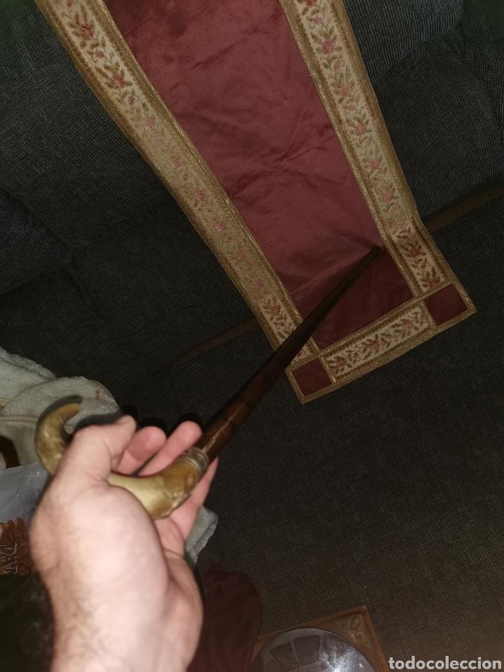 Antigüedades: Espectacular bastón cuerno-bambú y plata. Siglo XIX - Foto 6 - 187185675
