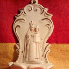 Antigüedades: BENDITERA DE PORCELANA .. Lote 187193953